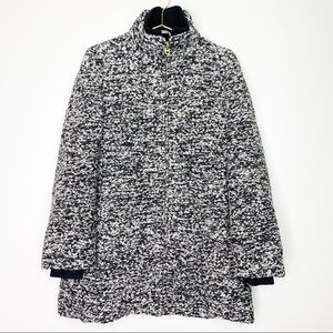 J Crew Wool Lodge Coat in Speckled Boucle Size 10